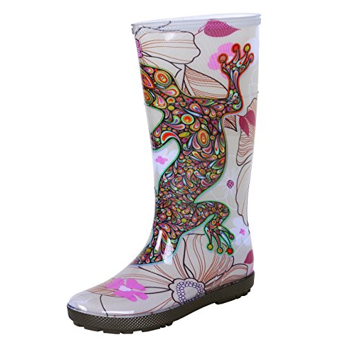 Demar - Stivali di gomma impermeabili Hawai Lady Exclusive, Multicolore (Salamandra), 41 EU