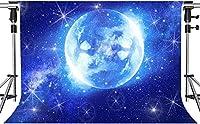 写真撮影のためのHDブループラネットの背景ドリームアースチャームブルーユニバース星空の背景室内装飾写真ブーススタジオ小道具7x5ftZYMT0500