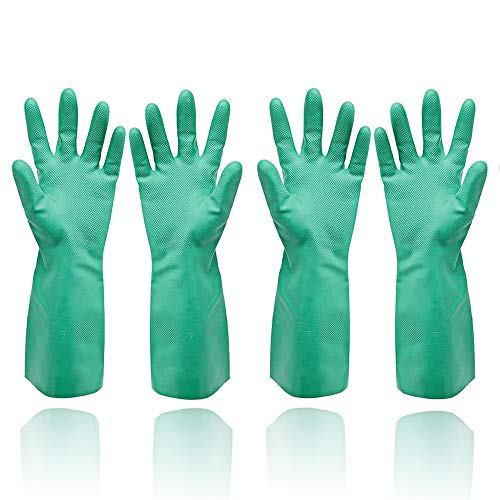 GAYISIC Reusable Cleaning Gloves XL Kitchen Gloves Dishwashing Household Waterproof Dish Washing Gloves for Men Women Home