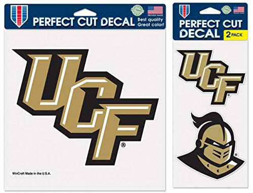 Central Florida UCF Knights Outdoor Decal Gift Set; 1 Large Decal and 2 Small Decals