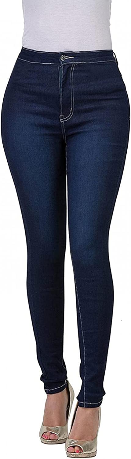 FUNEY Women's High Waisted Colored Stretch Skinny Destroyed Ripped Distressed Jeans Pull On Jeggings with Pockets Plus Size