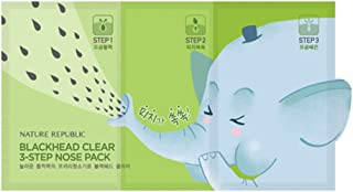 Nature Republic Blackhead Clear 3 Step Nose Pack, 5 Count