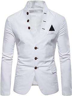 Men Suit Jacket Men Jacket Slim Fit Button Long Sleeve Spring and Autumn Fashion Elegant Comfortable Business Casual Weddi...