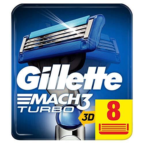 Gillette Mach3 Turbo 3D Rasierklingen für Männer, 8 Ersatzklingen, mit Klingen stärker als Stahl (Verpackung kann variieren)