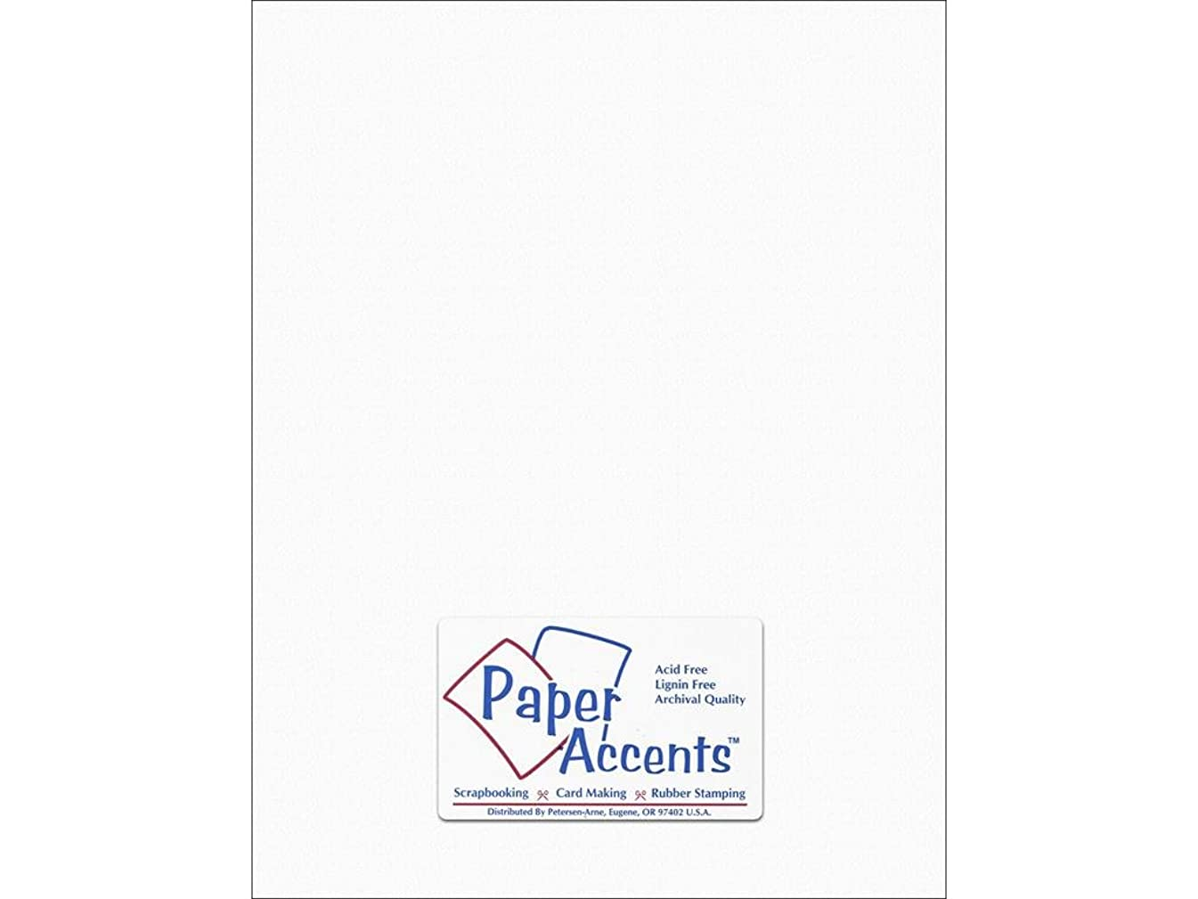 Accent Design Paper Accents SnowWhite Cdstk Stash Builder 8.5x11 65# Textrd Snow White