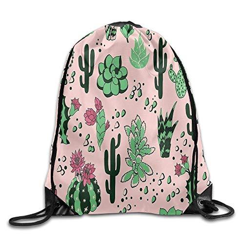 NA Mexicano estilo español cactus mochila con cordón, bolsa de gimnasio, bolsa de almacenamiento portátil para camping, senderismo, natación, compras, senderismo, viajes, playa, con cordón