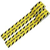 警戒色 パッキングテープ バリケード テープ (CAUTION) 幅4.7cmX長さ25m 2巻セット フィルムテープ ライン用テープ 梱包 表示 安全