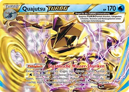 Quajutsu Turbo 41/122 Pokémon XY Turbo Fieber Sammelkarte - Deutsch - Cardicuno