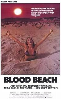 ArtFuzz Blood Beach Movie Poster Print