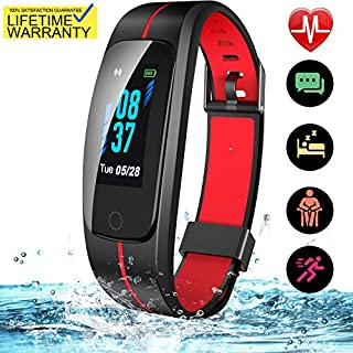Updated 2019 Version High-End Fitness Tracker HR, Activity Trackers Health Exercise Watch with Heart Rate and Sleep Monitor, Smart Band Calorie Step Counter, Pedometer Walking for Men Women Kids