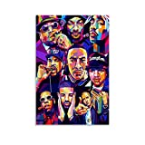 LIANGBO Tupac Biggie Snoop Dogg Art Poster dekorative