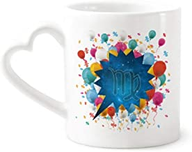 cold master DIY lab Starry Night Virgo Zodiac Constellation Festival Balloon Mug Coffee Cup Pottery Ceramic Heart Handle