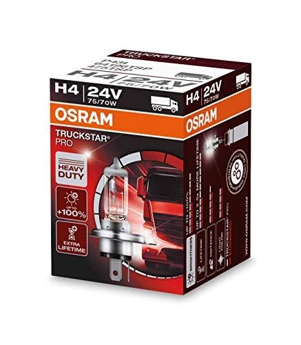 OSRAM TRUCKSTAR PRO H4, lámpara para faros halógena, 64196TSP, vehículo industrial de...