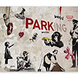murando Fotomurales 250x175 cm XXL Papel pintado tejido no tejido Decoración de Pared decorativos Murales moderna Diseno Fotográfico Banksy Graffiti Mural i-a-0107-a-b