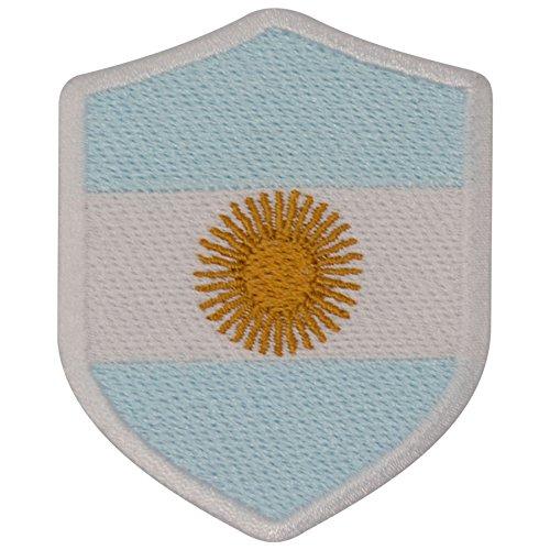 FanShirts4u Aufnäher - ARGENTINIEN - Wappen - 7 x 5,6cm - Bestickt Flagge Patch Badge Fahne Argentina (weiße Umrandung)
