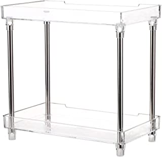 Decdeal Multi-Functional 2-Tier Cosmetic Organizer Tray Storage Shelf Caddy Stand for Bathroom Vanity Countertop