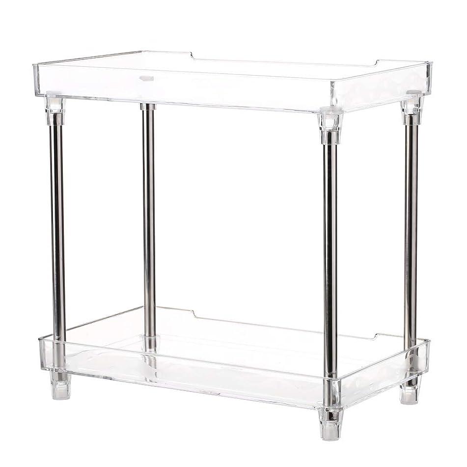 Decdeal 多功能 2 层化妆品收纳盒托盘储物架架架浴室梳妆台台