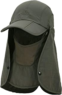 360° Sun Protection Hat - Baseball Cap Style with Removable Neck and Face Flap