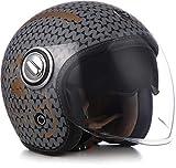 Soxon SP-888 - Casco de Moto (Visera ECE, Cierre rápido, Funda Slimshell)