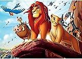 Kit fai da te per pittura a mosaico 5D per adulti e bambini, Hotai, kit per pittura con strass di cristallo, tema Il re leone, 30,5 x 40,6 cm