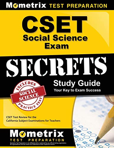Compare Textbook Prices for CSET Social Science Exam Secrets Study Guide: CSET Test Review for the California Subject Examinations for Teachers Mometrix Secrets Study Guides Study Guide Edition ISBN 9781609715793 by CSET Exam Secrets Test Prep Team