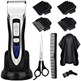 Haarschneidemaschine Haarschneider Akku Profi Haartrimmer Herren mit Haarschere und Ladestation von ELEHOT - Verpackung MEHRWEG