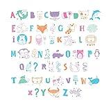 Ai-life 62 Piezas Colorido Animal DIY Especiales Cinema Signos Símbolos Gráficos, Símbolos de Celebración Set Complementario Signos de Cine para Caja de luz de Tamaño A4