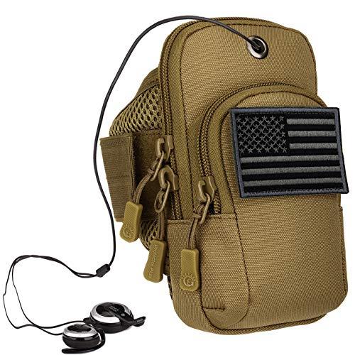Protector Plus Taktische Tasche für Handy / Armband, Gürteltasche, EDC Utility Gadget-Ausrüstung, medizinische Tasche, Tasche (Patch im Lieferumfang enthalten), Braun