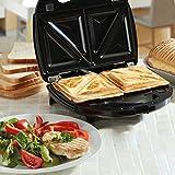 NETTA Sandwichmacher   Sandwichtoaster mit extra tiefen Grillplatten   750W