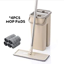 Mop Magic Cleaning Microfiber and Bucket Hand-Free Mopping Bucket Floor Flat Mop Household Kitchen Floor Cleaning Tools Dr...