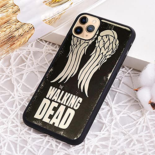 Daryl Dixon Walking Waling Wings Funda telefónica para iPhone 5S SE 6 6S 7 8 Plus X XR XS 11 12 Pro MAX-1_para iPhone XS MAX