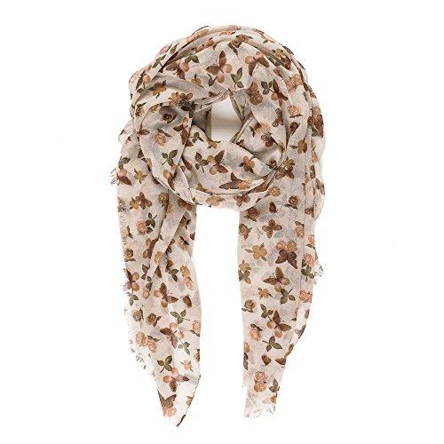 Melifluos Pañuelos Fular Foulard Mujer Bufandas Estampado Diseño Español 100% Viscosa (NF03-5)
