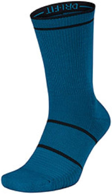 Nike Court Essential Crew Socks Green Abyss Black Xlarge