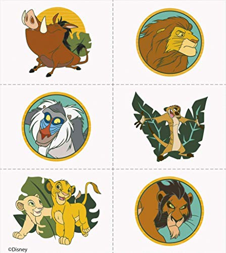 Unique Industries The Lion King Birthday Party Favor Tattoos - Includes 24 Tattoos