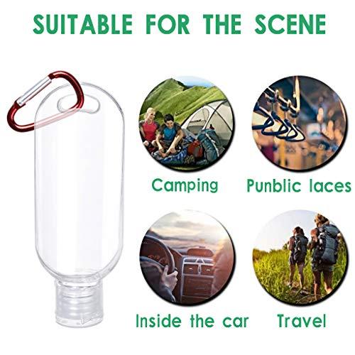 Webla Sub-embotellado Llavero portátil Estuche de viaje Llavero de plástico transparente Contenedor de botella a prueba de fugas(20 piezas)