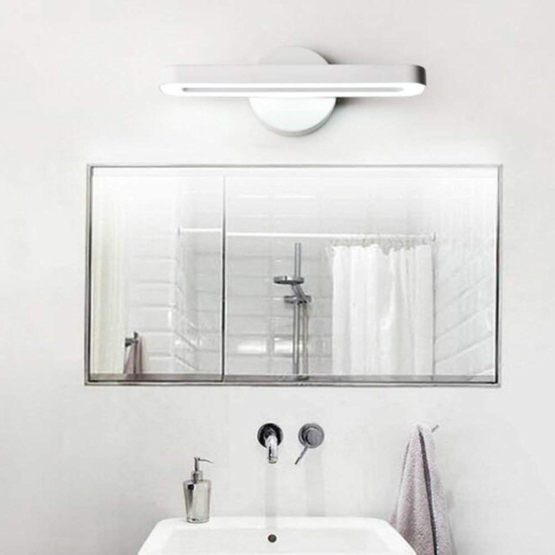JZX Hauptbadezimmer-Spiegel-Scheinwerfer-Badezimmer führte Spiegel-Front-Lichter weies Licht (6000-6500K) Wand-Lampe 28Cm 8W führte die enthaltene Birne, Spiegel-Scheinwerfer,Wei