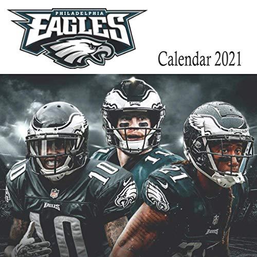 "Philadelphia Eagles: 2021 Wall Calendar - Mini Calendar, 7""x7"", 12 Months - Team Calendar"