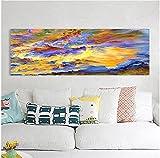 Estilo nórdico 40x120cm pintura abstracta sin marco del barco de la nube impresiones de la pared moderna figura de onda multicolor obra de arte sobre lienzo