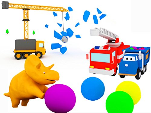 Learn vehicles and forms : Balls and Trampoline / The Demolition Crane