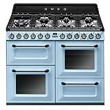 Piano de cuisson Smeg TR4110AZ  - Bleu azur - Classe énergétique A / Plaque Gaz / Four Electrique Multifonction - Vapor Clean - Porte tempérée