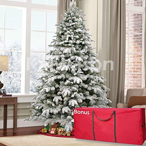 kalwason 7ft Flocked Artificial Christmas Tree