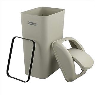 comprar comparacion Ucake 1 Paquete de 10 Litros Cubo de Basura Basurero Papelera Con Tapa Basculante de Plástico para Cocina, Oficina, Dormit...