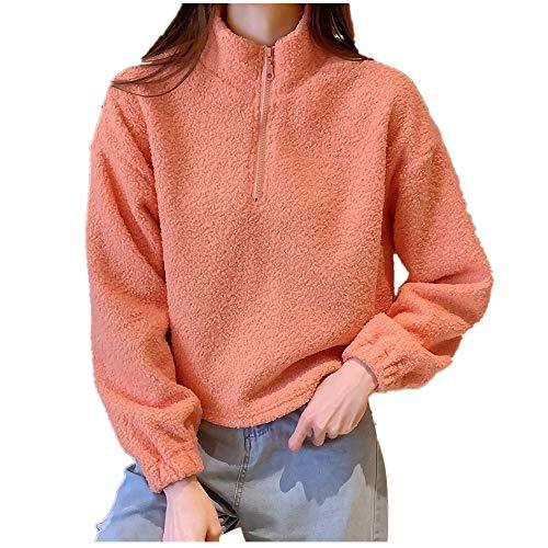 N\P Suéter de cachemir de las mujeres otoño e invierno corto cuello suelto más chaqueta de cachemira mujer