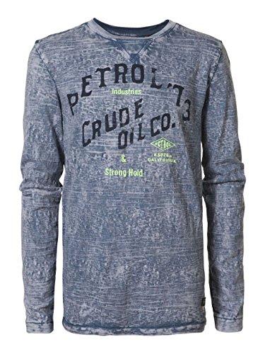 Petrol Industries - jongens T-shirt met lange mouwen petrol-print, blauw - B-SS17-TLR602