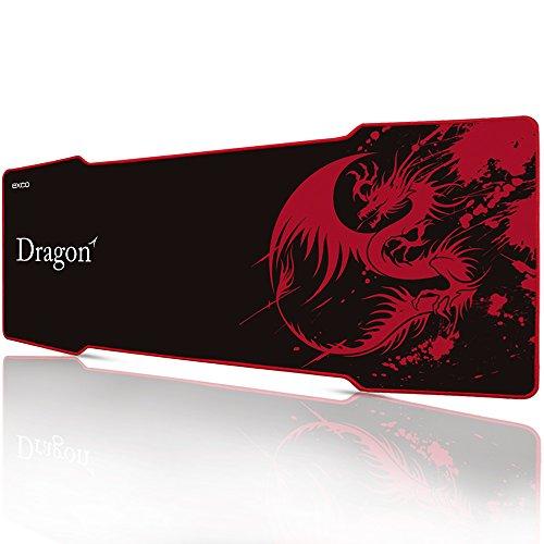 Rojo pterosaur-extra gran Gaming Mouse Pad XXXL 1000*380*5mm – Base de goma resistente al agua antideslizante alfombrilla de raton de ordenador para portatil