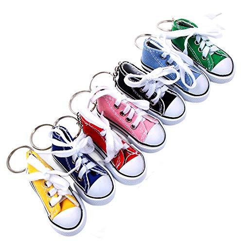 """MAXGOODS 7-teiliges Set Neuheit 3 """"Sneaker Schuh Schlüsselanhänger - Canvas Schuhe Schlüsselanhänger für Kinder Erwachsene"""
