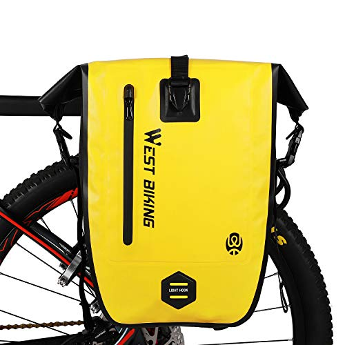 WESTGIRL Sacoche de vélo pour porte-bagages, 25 L, étanche, sac à dos pour vélo avec bandoulière, accessoires de vélo