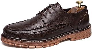 CAIFENG Moda para Hombre Oxford Casual Cómodo Suela Suela Simple Lace-Up Zapatos Formales Transpirables (Color : Brown, Si...
