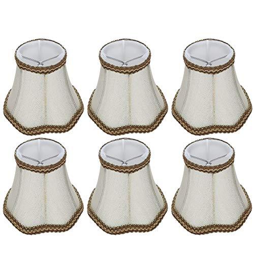 Felenny Lamp Cover 6 Pcs Desktop Table Lamp Cover Tela Pantalla de La Lámpara Accesorio para E14 Chandelier Light Bulb