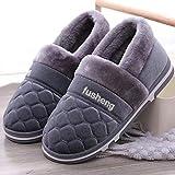 Zapatillas de algodón para Hombre Zapatillas de casa de Invierno Zapatos Tendencia romm Zapatillas Interior Cálido Suela Suave Zapatillas de Fieltro para Hombre Casa Grande Antideslizante y cálido